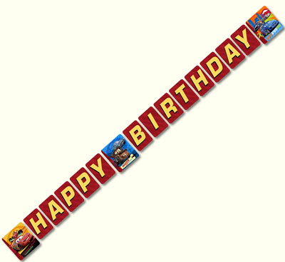 plastic birthday banners ; H1HNG3700