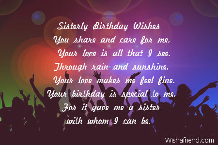 poem to your sister on her birthday ; 2460-sister-birthday-poems