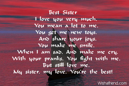 poem to your sister on her birthday ; 2723-sister-birthday-poems