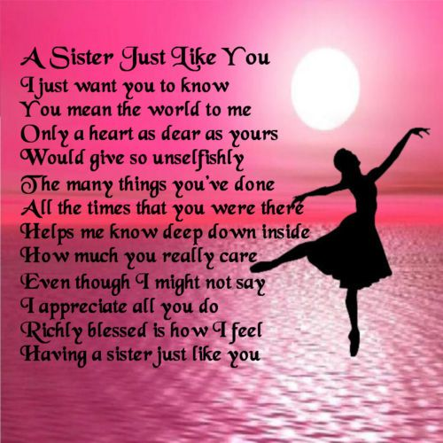 poem to your sister on her birthday ; 3a7f44b24a987f5157b55cb64d09cdac