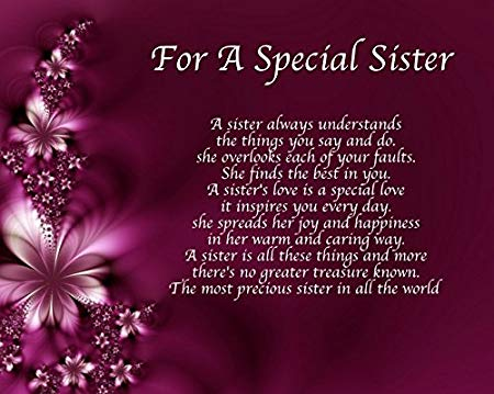 poem to your sister on her birthday ; 51oBzUoaVAL