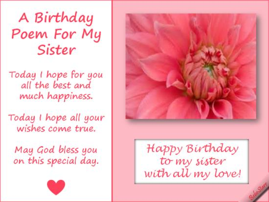 poem to your sister on her birthday ; Birthday-Poems-For-Sister-On-Her-Birthday-1
