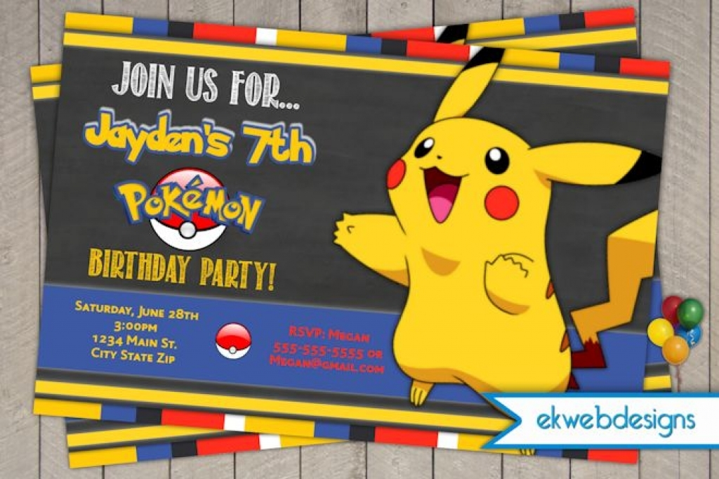 pokemon birthday party invitation template ; Pokemon-Birthday-Invitations-Online