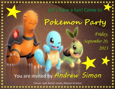 pokemon birthday party invitation template ; efdfbc1837883ec386c16cb5641515e4