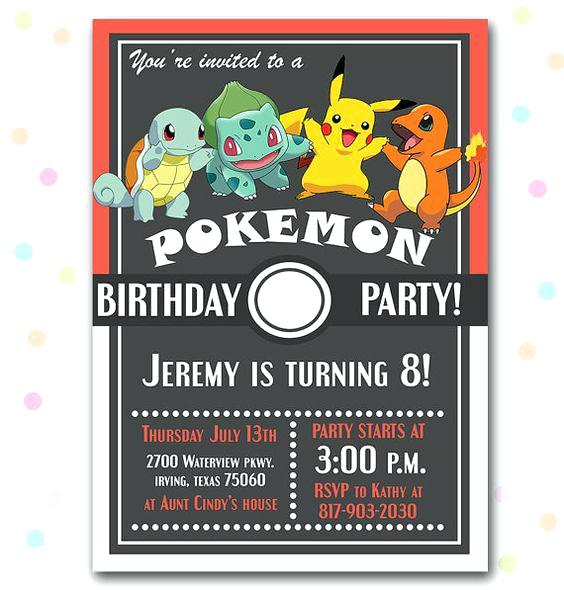 pokemon birthday party invitation template ; pokemon-birthday-party-invitations-as-well-as-birthday-party-invitation-pokemon-birthday-party-invitation-template