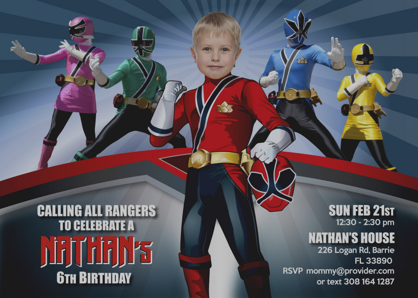 power rangers birthday invitation cards ; pictures-of-power-ranger-birthday-invitations-rangers-invitation-turn-your-little-one-into-a
