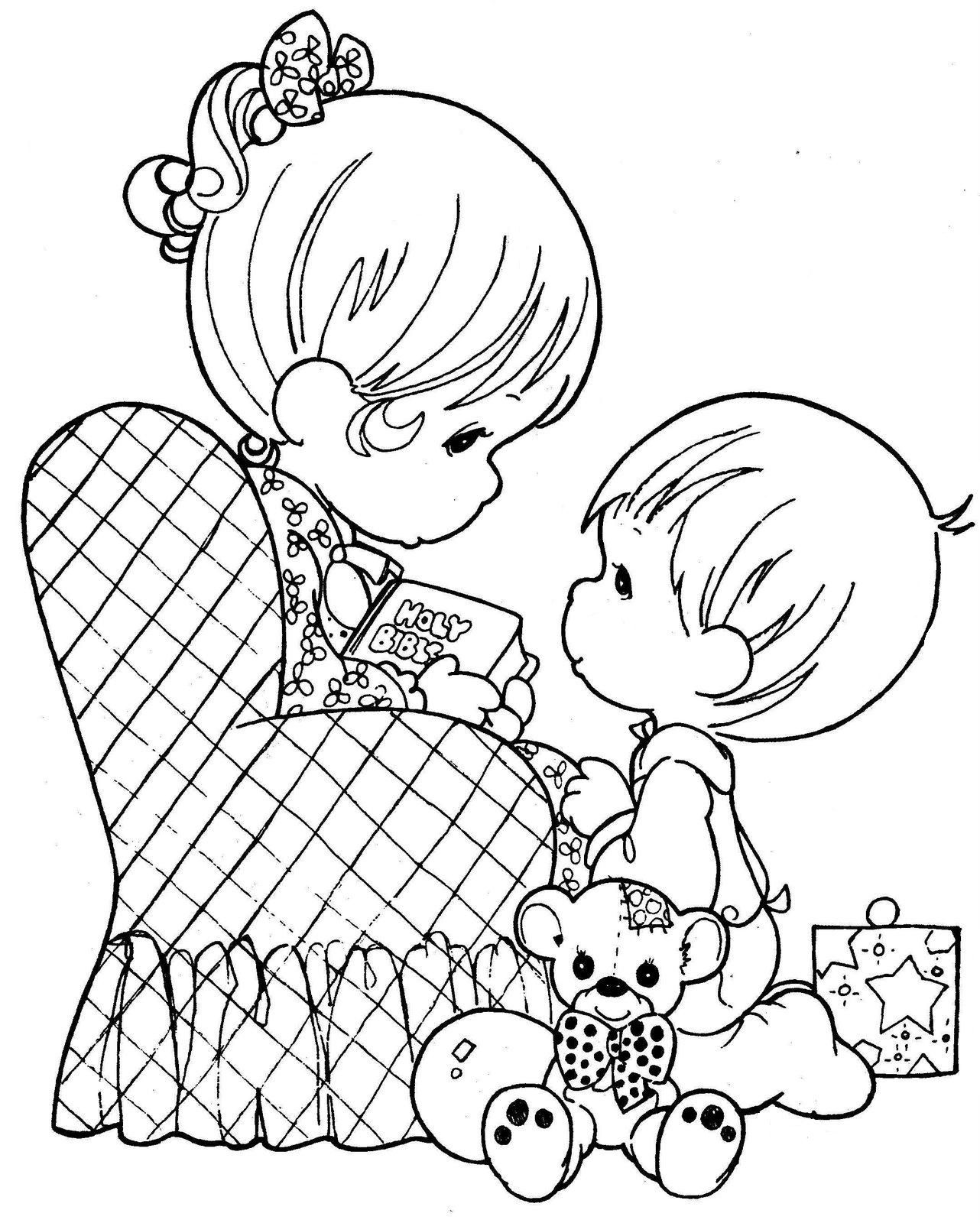 precious moments birthday coloring pages ; 91488fa97610d054dc8339ab6143bb08
