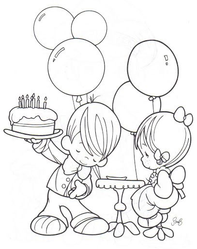 precious moments birthday coloring pages ; ac976239e37eb4a404878b56d492db22
