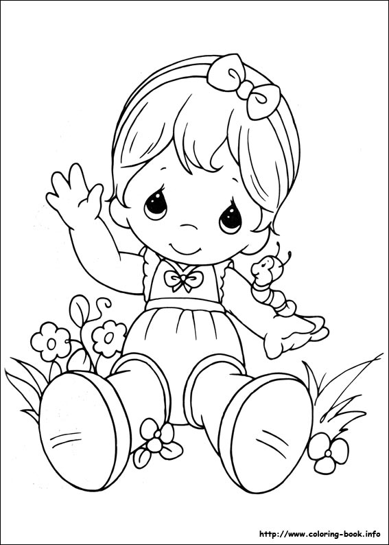 precious moments birthday coloring pages ; precious-moments-03