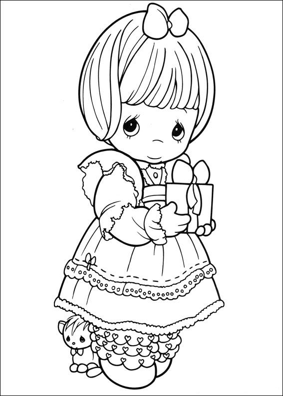 precious moments birthday coloring pages ; precious_moments_07