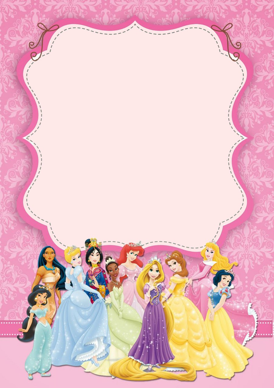 princess birthday template ; Disney-Princesses-Birthday-Invitation-Template