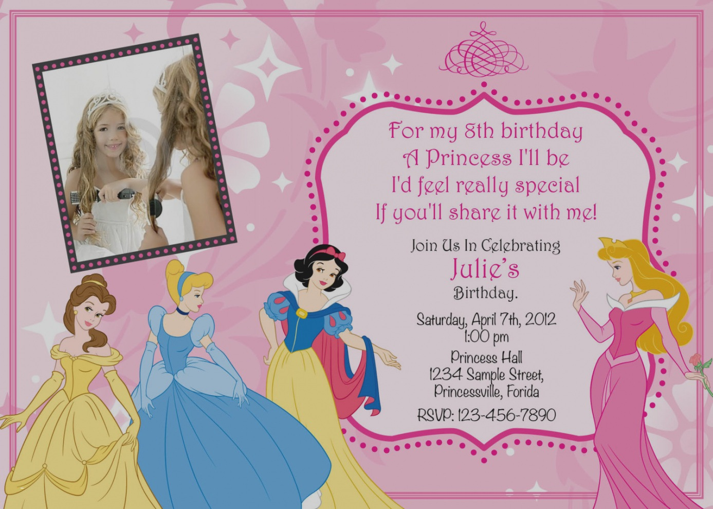 princess birthday template ; princess-birthday-party-invitations-template-elegant-gallery-8th-birthday-invitation-templates-party-invitations-of-princess-birthday-party-invitations-template