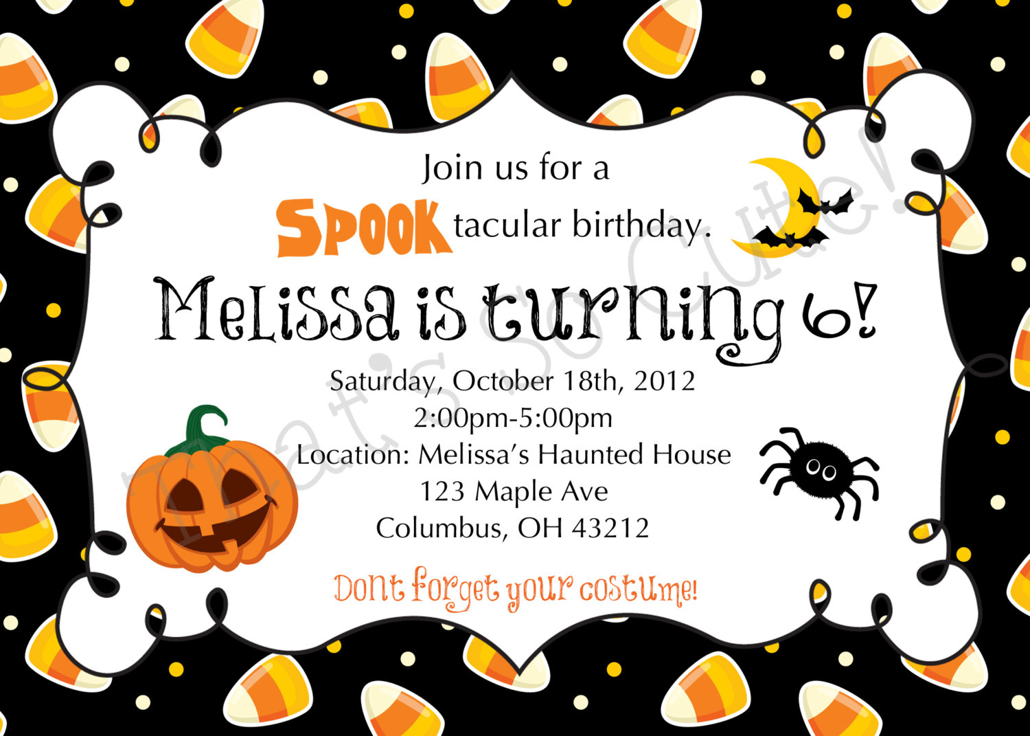 printable halloween birthday invitations ; Halloween-Birthday-Invitations-TEmplate