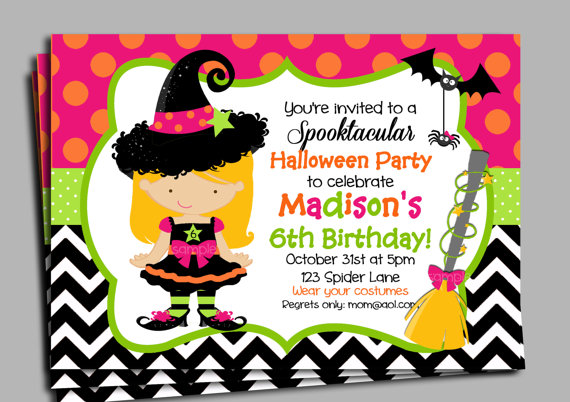 printable halloween birthday invitations ; il_570xN