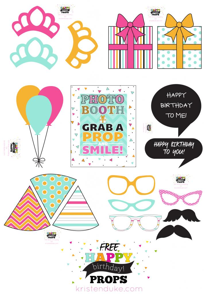 printable photo booth props birthday ; 67ee01c02df05f5354db7f2c818c12bf