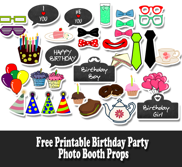 printable photo booth props birthday ; free-printable-birthday-party-photo-booth-props