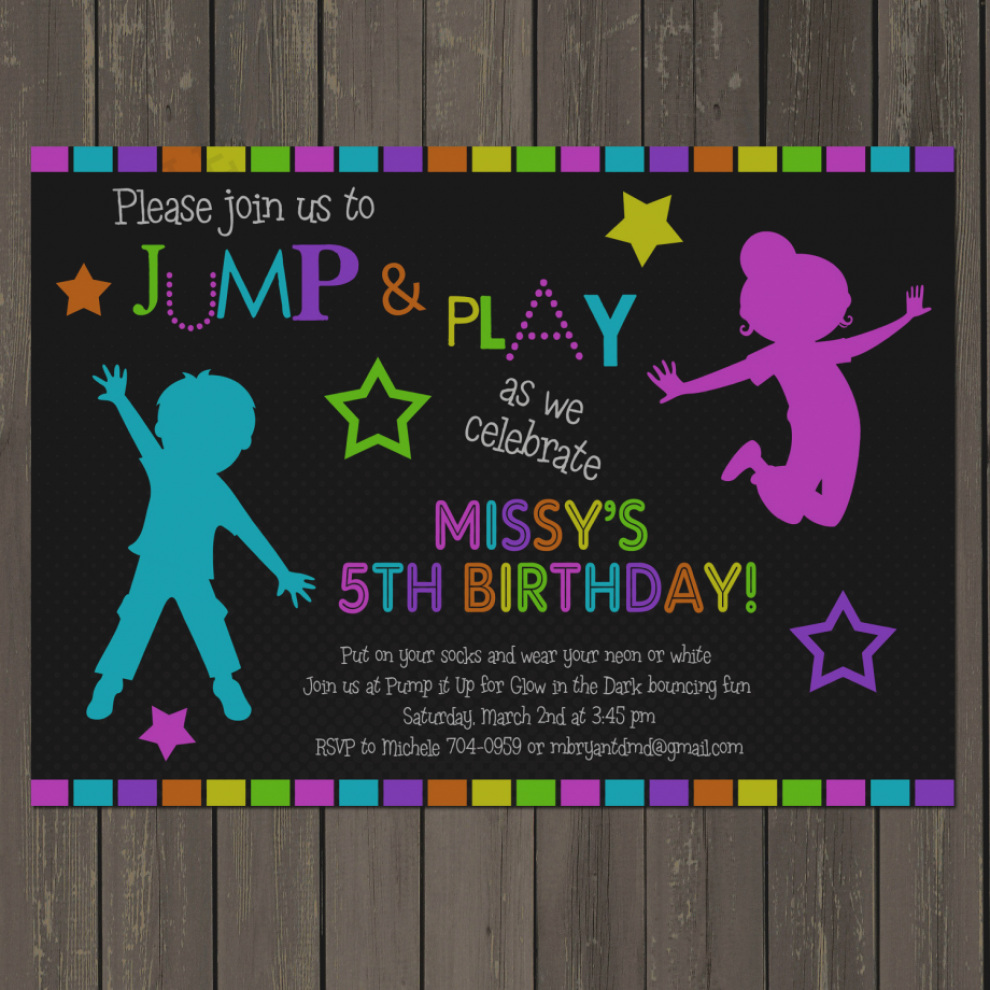 pump it up birthday party invitation wording ; pictures-trampoline-birthday-party-invitation-wording-trend-of-jumping-best