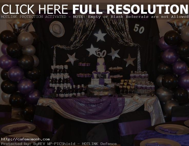 purple 50th birthday banners ; 50th-birthday-party-decorations-for-him