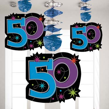 purple 50th birthday banners ; 50thBP-Decorations_ml