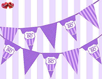 purple 50th birthday banners ; 81p8ARDnxGL