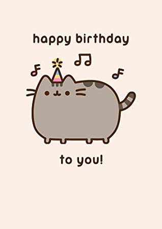 pusheen birthday card uk ; 51KZp-BDIQL