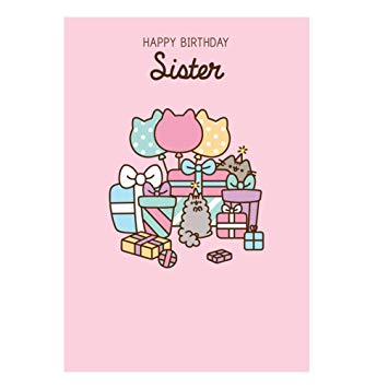 pusheen birthday card uk ; 51TC6lF9nbL