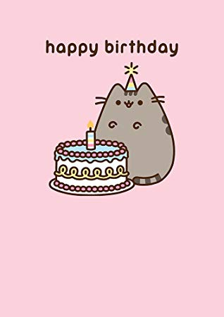pusheen birthday card uk ; 51fj39dZguL
