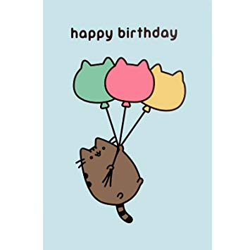 pusheen birthday card uk ; 61rYS3kBO3L