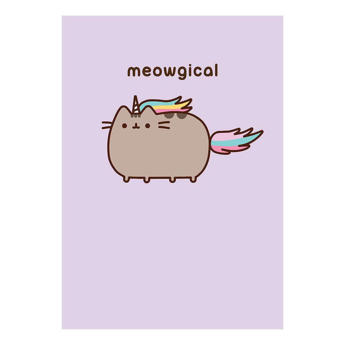 pusheen birthday card uk ; PUSH17-pusheen-meowgical-greeting-card