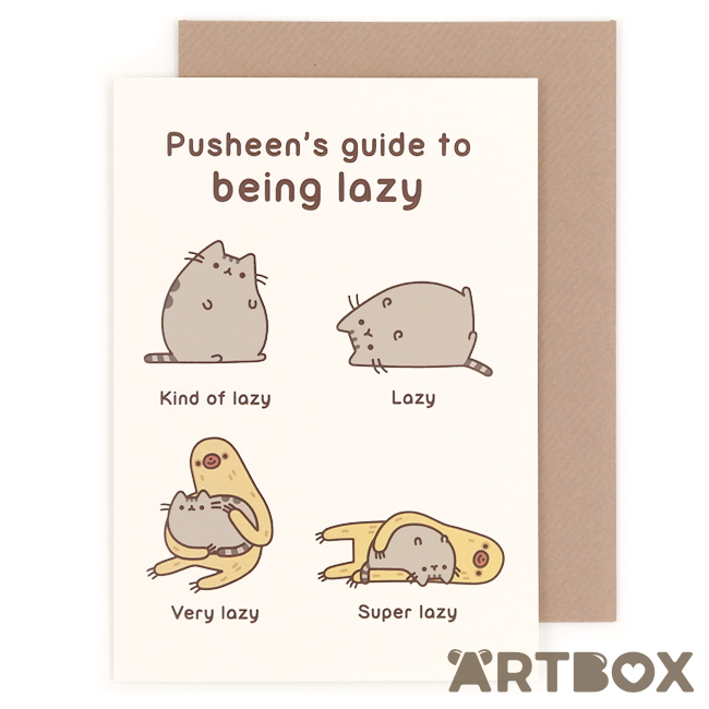 pusheen birthday card uk ; greeting_pusheen_being_lazy_1_650