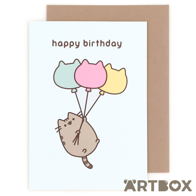 pusheen birthday card uk ; greeting_pusheen_birthday_balloon_1_650