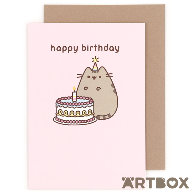 pusheen birthday card uk ; greeting_pusheen_birthday_cake_1_650