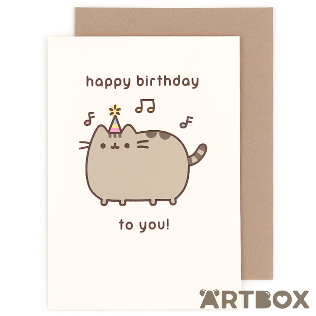 pusheen birthday card uk ; greeting_pusheen_birthday_musical_1_650