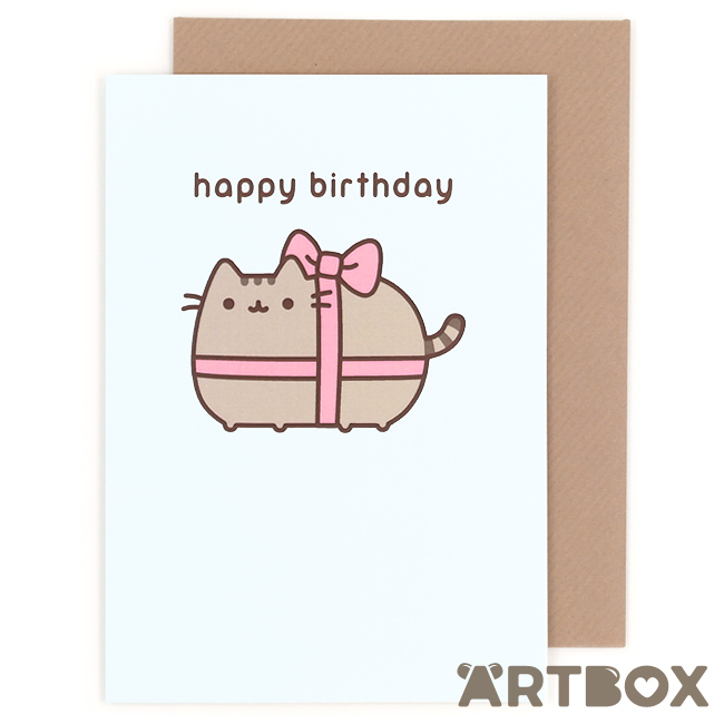 pusheen birthday card uk ; greeting_pusheen_birthday_ribbon_1_650