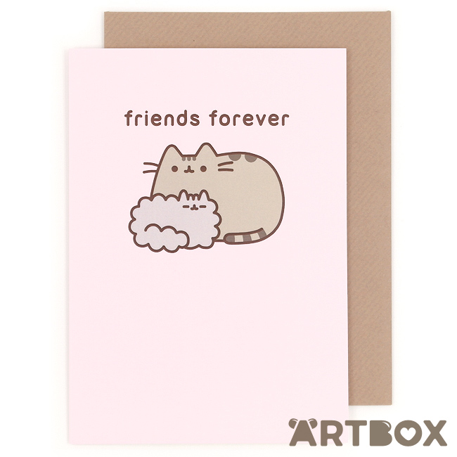 pusheen birthday card uk ; greeting_pusheen_friends_forever_1_650
