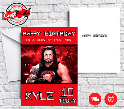 roman reigns birthday card ; Roman-Reigns-WWE-Personalised-Birthday-Card-SON