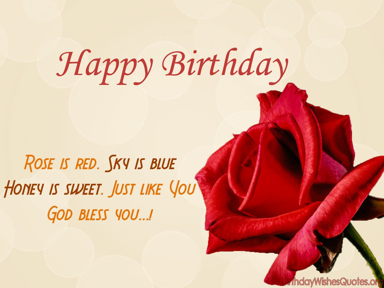romantic way to wish happy birthday ; Rose-is-red-sky-is-blue