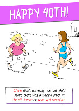 running birthday card ; 4846a_272px