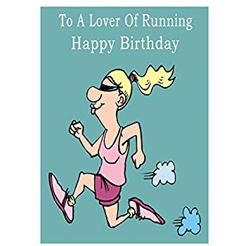 running birthday card ; 51oRhVvAu9L