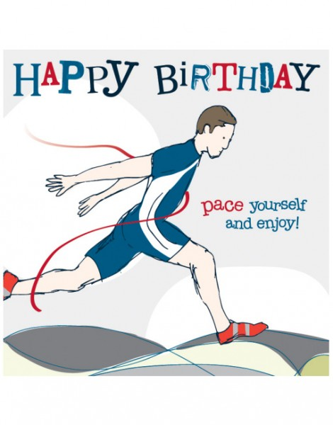 running birthday card ; card-crush-greetings-molly-mae-male-runner-birthday-card-YS05-470x600