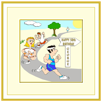 running birthday card ; jogging_birthday_card