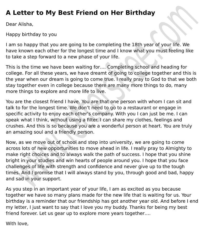 sample birthday message to a friend ; a-letter-to-my-best-friend-on-her-birthday-sample-birthday-letter-for-happy-birthday-letter-to-my-best-friend