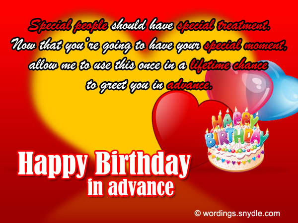 sample birthday message to a friend ; advance-birthday-card-wordings