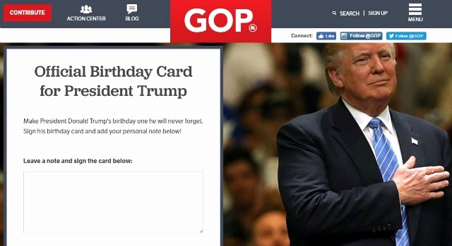 sign barack obama birthday card ; birthday-card-from-president-inspirational-today-is-donald-trump-s-birthday-and-you-can-sign-his-card-of-birthday-card-from-president