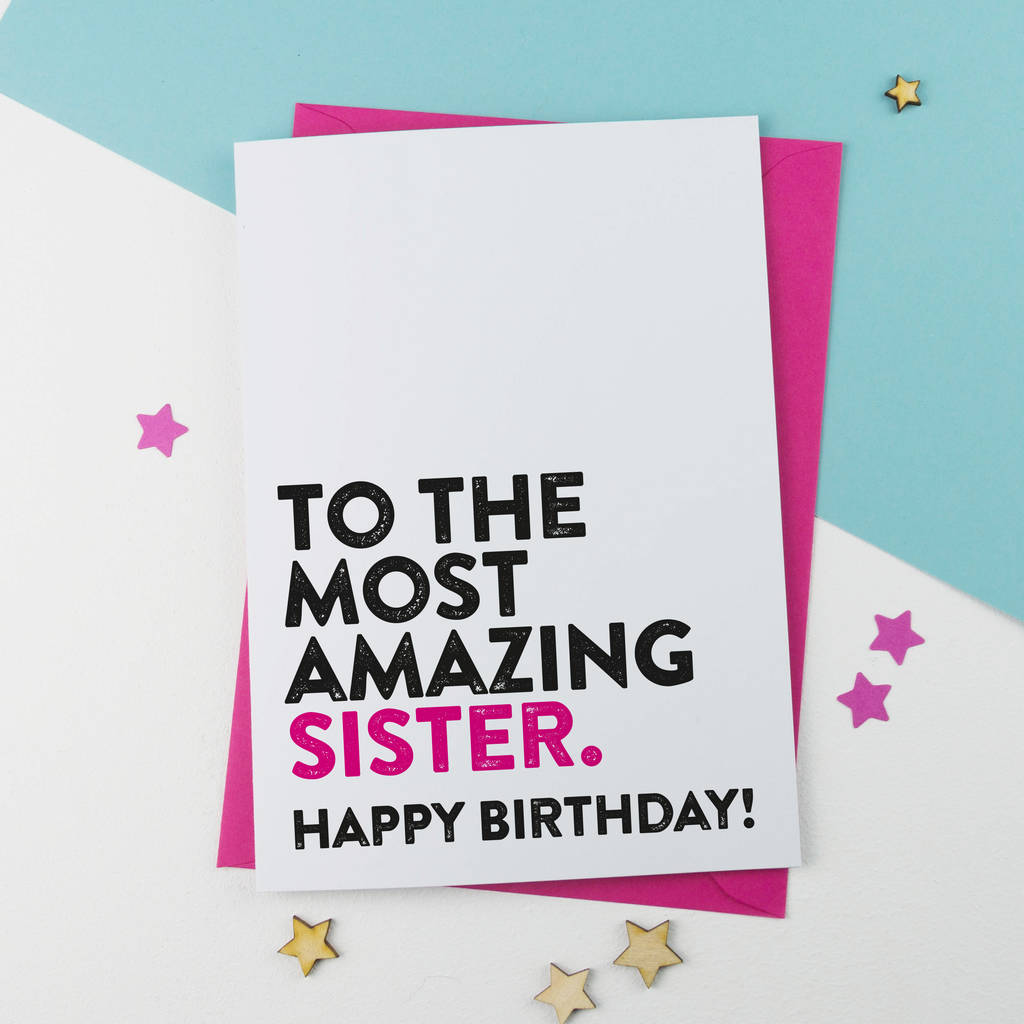 sister birthday poster ; original_most-amazing-sister-birthday-card