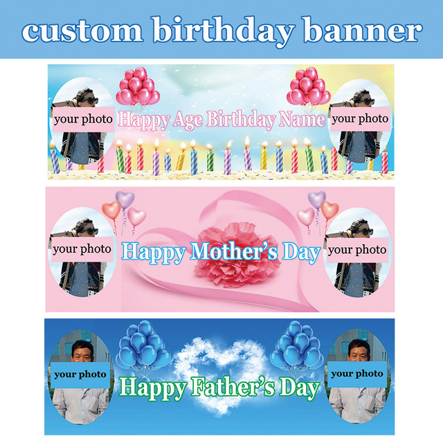 size of birthday banner ; custom-digital-printed-polyester-Mother-s-Day-Father-s-Day-Christening-Day-birthday-banner-Size-60x180cm