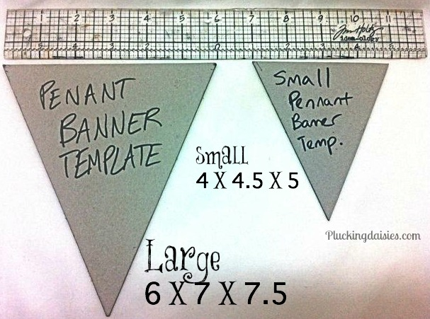 size of birthday banner ; how-to-make-a-pennant-banner-template