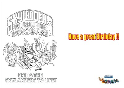 skylander birthday card template ; 601808137_tp