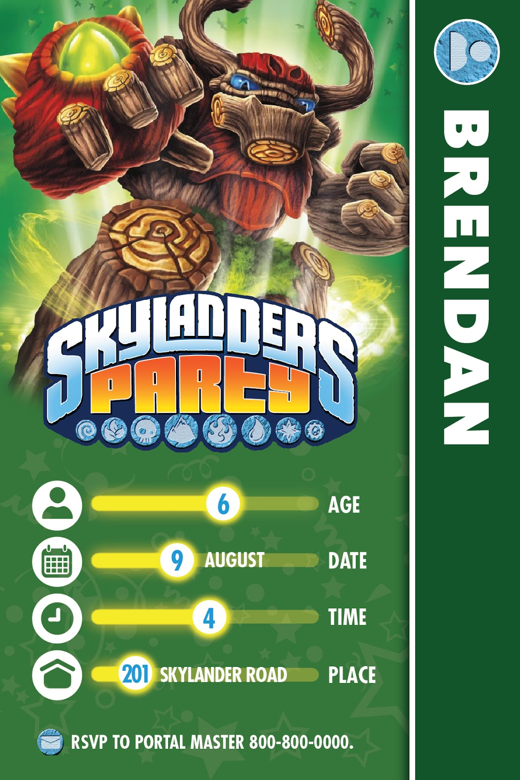 skylander birthday card template ; Invitation+for+Blog