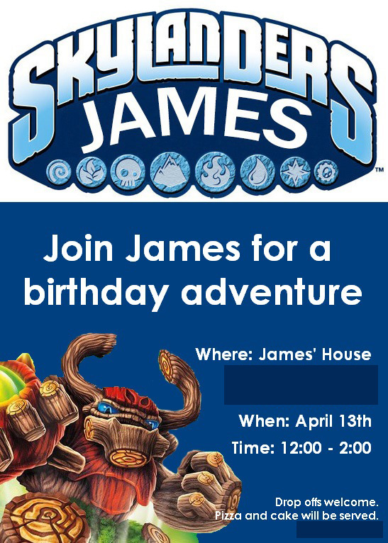 skylander birthday card template ; Skylanders_Invite